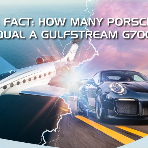 [Fun Fact: Jet Price] How many Porsches Equal a Business Jet AND What's the Economics of Private Jet?